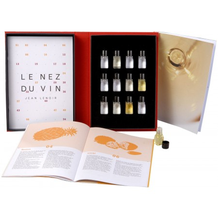 Libro 12 aromas vinos blancos Le Nez du Vin caja y libro