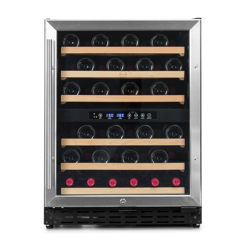 Vinoteca doble temperatura y encastrable para 50 botellas
