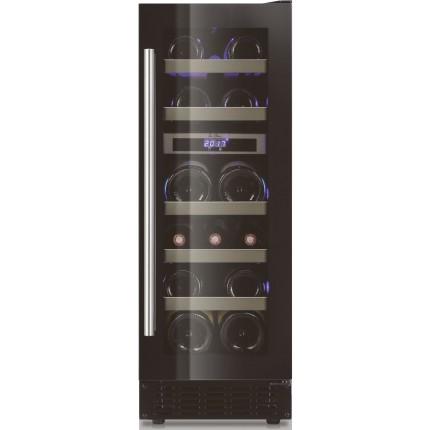 Built-in double zone wine cooler 16 bottles LBN160 black