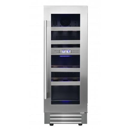 Built-in dual-zone wine cooler 17 bottles LB178 inox
