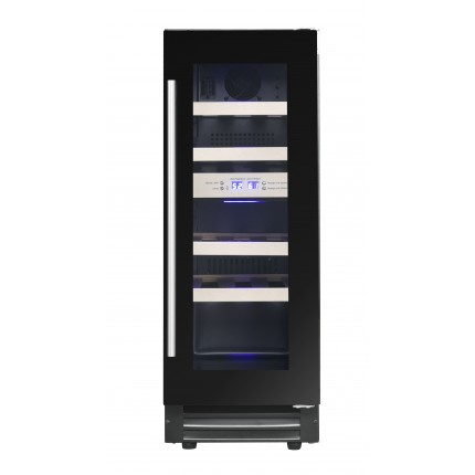 Built-in dual-zone wine cooler 17 bottles LBN178 black