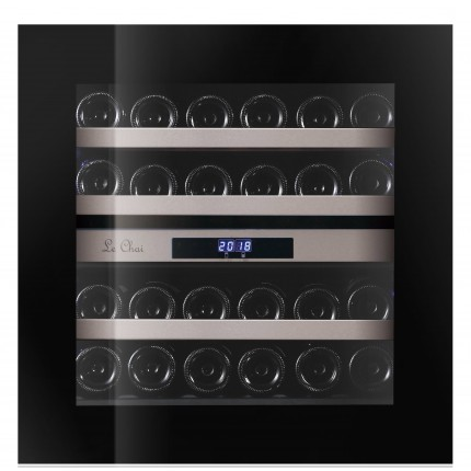 Built-in wine cooler 24 bottles LBN240POV black