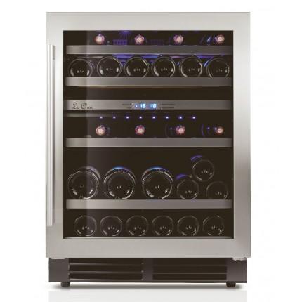 Double zone built-in wine cooler 44 bottles LB445 inox