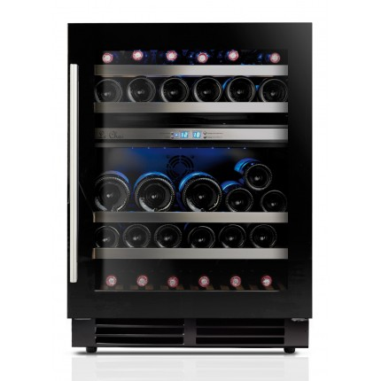 Built-in double zone wine cooler 44 bottles LBN445 black