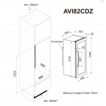 Diagrama de encastre AVI82CDZ