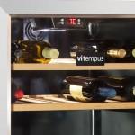 vinoteca 100 botellas vitempus vi100 inox detalle