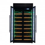 vinoteca-320-botellas-pevino-h320f-2t-b-negro-abierta