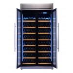 vinoteca-320-botellas-pevino-h320f-2t-s-acero-abierta