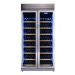 vinoteca-320-botellas-pevino-h320f-2t-s-acero