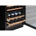 Vinoteca Avintage 50 botellas AVU53TDZA doble zona temperatura detalle bandejas