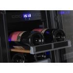 Vinoteca 23 botellas Dometic S17G doble temperatura detalle bandeja etiqueta