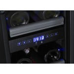 Vinoteca 23 botellas Dometic S17G doble temperatura detalle display temperatura