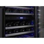 Vinoteca 62 botellas Dometic S46G encastrable doble temperatura detalle display temperatura abierta