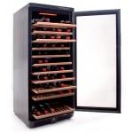 Vinoteca Vinobox 110 botellas 110GC 1T Negro lateral abierta