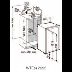 Vinoteca Liebherr WTEes2053 Vinidor 2 Zonas 64 Botellas encastrable en columna esquema