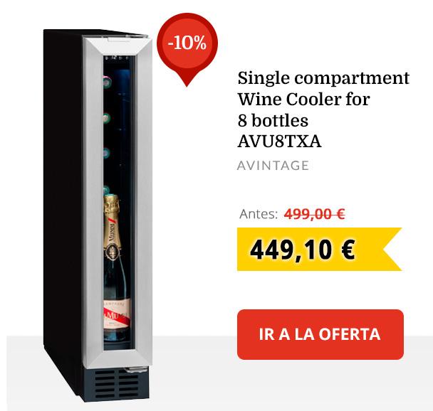 Vinoteca para 8 botellas de compartimento único  AVU8TXA