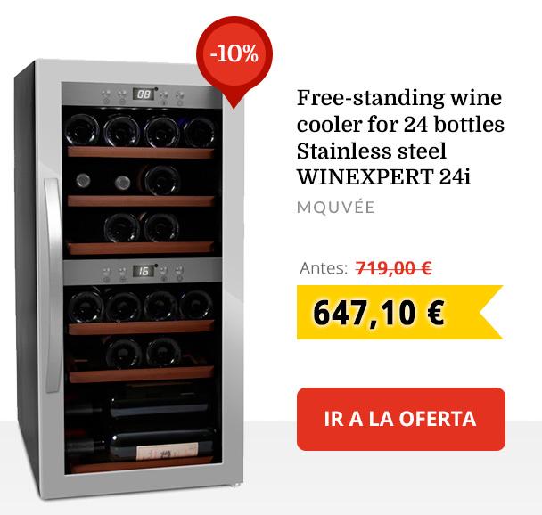 Vinoteca para 24 botellas inox de conservación WineExpert 24I