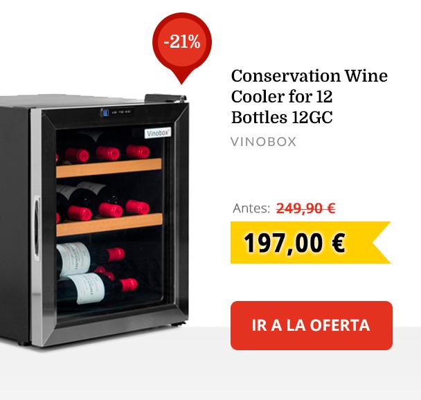 Conservation Wine Cooler for 12 Bottles 12GC