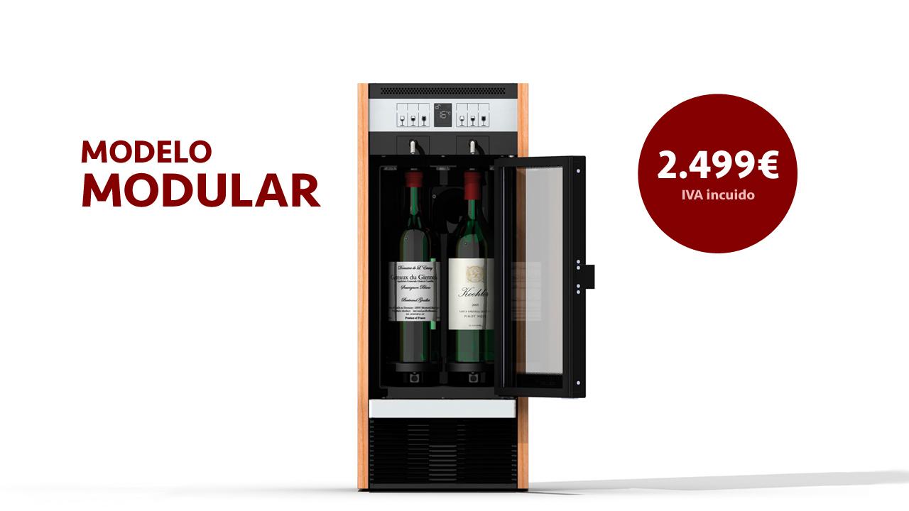 dispensador de vino por copas modular